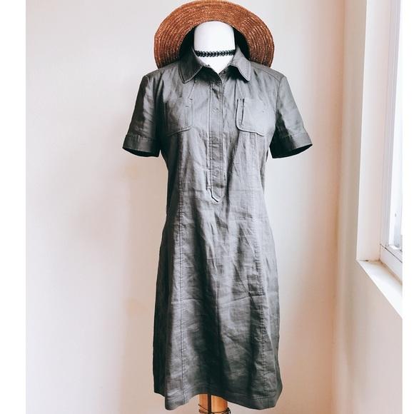 116b450cd8 Elie Tahari Dresses   Skirts - Elie Tahari Linen Shirt Dress